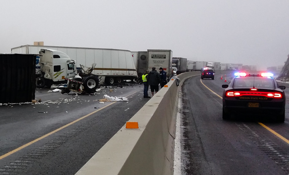 Serious Crash on I-84 Results in Vehicular Pileup, Injuries
