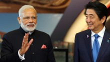 China gives its support  on the India-Japan nuclear deal.