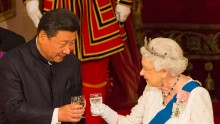 Chinese President Xi Jinping and Queen Elizabeth