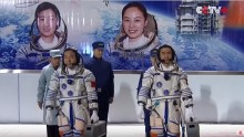China's two astronauts are set to return to Earth following a month-long space mission.