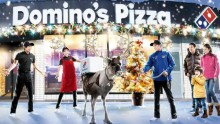 Dominos Japan to delivery pizzas... by reindeer.