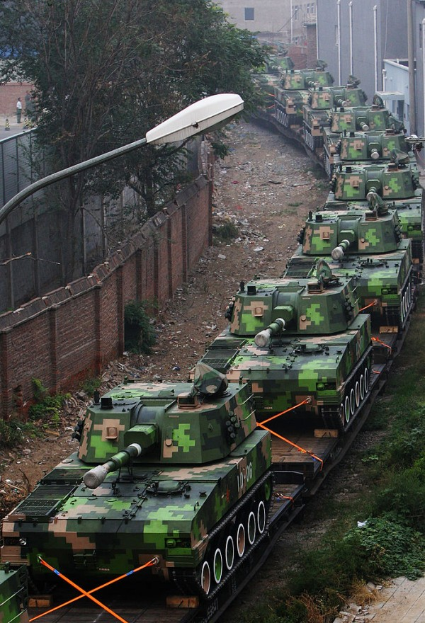 The army machineries were taken by Hong Kong officials as they were being transferred from Taiwan to Singapore