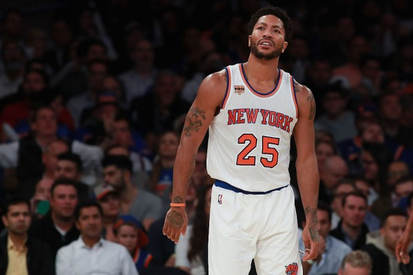 New York Knicks point guard Derrick Rose