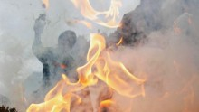 A Tibetan man has set himself on fire while protesting against Chinese rule in Tibet.