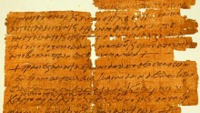 The 1,500 year old Greek papyrus
