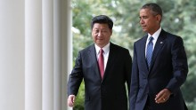 Presidents Xi Jinping and Barack Obama
