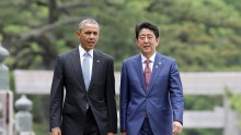 US President Barack Obama and Japanese Prime Minister Shinzo Abe