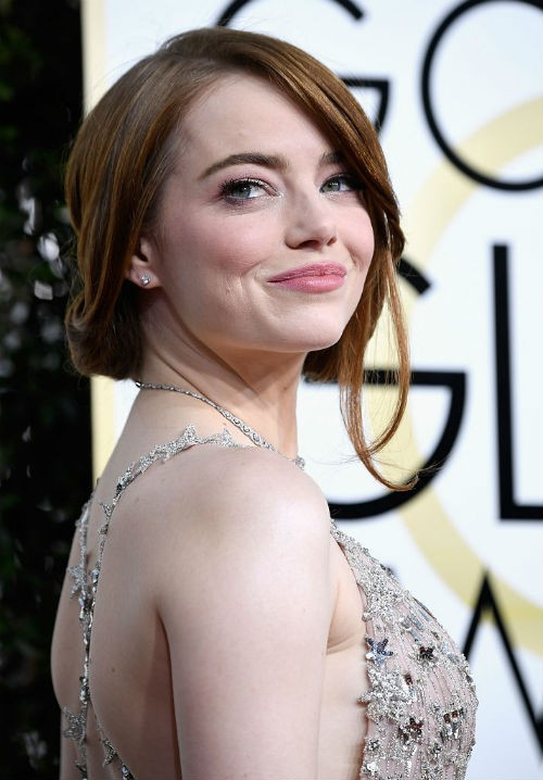 Emma Stone at the 74th Annual Golden Globe Awards