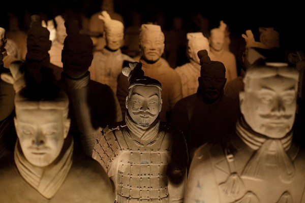 Police destroyed over 40 fake Terracotta warriors in Shaanxi Province.