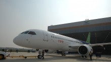 China's First Self-developed Large Passenger Jetliner C919 Rolls Off Production Line