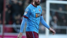 Scunthorpe United striker Kevin van Veen