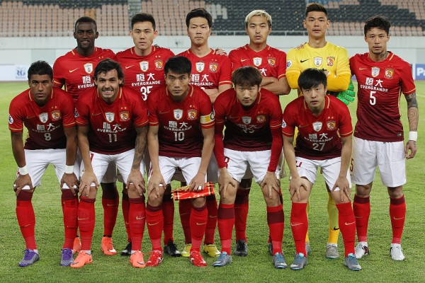 Guangzhou Evergrande players