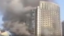 Fire Explodes in Nanchang Hotel.
