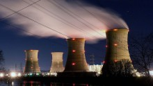 The Three Mile Island Nuclear Plant is seen in the early morning hours March 28, 2011 in Middletown, Pennsylvania.