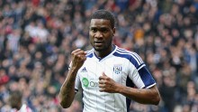Former West Brom and now Tianjin Teda striker Brown Ideye