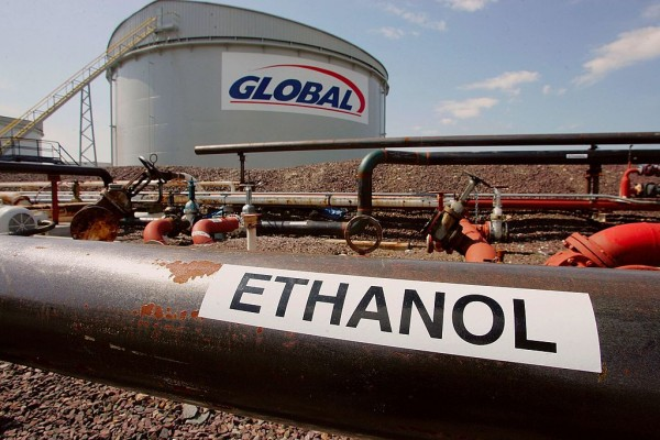 A tank holding Ethanol, a fuel additive, is seen at a fuel tank farm in the Global Petroleum facility April 27, 2006 in Boston, Massachusetts.