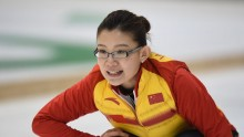 China Women's Curling team captain Wang Bingyu