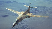 U.S. B1 Bomber Files Over East China Sea.