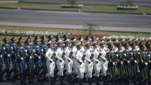 Chinese Troops Participate in Pakistan Day.