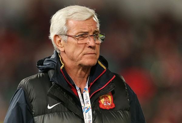 Former Guangzhou Evergrande manager and now China PR head coach Marcello Lippi