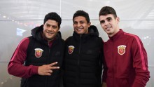 Shanghai SIPG imports (from L to R) Hulk, Elkeson, and Oscar