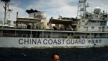 China Coast Guard's Type 818 vessel was reportedly spotted equipped with the Type 630 30mm close-in weapon system.