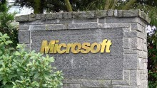 Microsoft sign at its Redmond headquarters