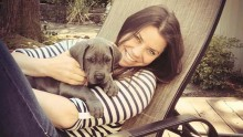 Brittany Maynard with her dog, Charlie.