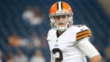 Johnny Football starts for the Cleveland Browns sunday against the Cincinnati Bengals
