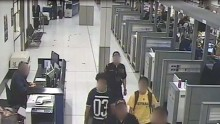 Surveillance Video of Sydney airport shows 2 teenage brothers, in yellow & black shirts, suspected of heading to Mid-East to join ISIS
