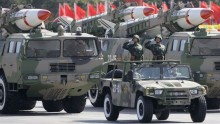 File photo of China's military weapons