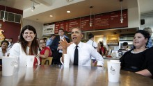Obama at Chipotle