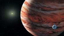 Artist's conception of Jupiter's twin
