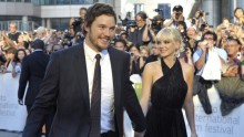 Chris Pratt and Anna Faris arrive at the gala presentation for the film 'Moneyball' at the 36th Toronto International Film Festival September 9, 2011.
