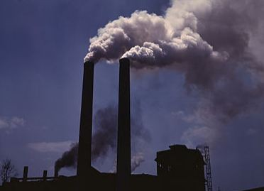 Air pollution caused by fossil fuels