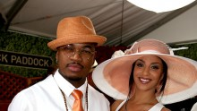Ne-Yo (L) and Crystal Renay attend the 141st Kentucky Derby at Churchill Downs on May 2, 2015 in Louisville, Kentucky.