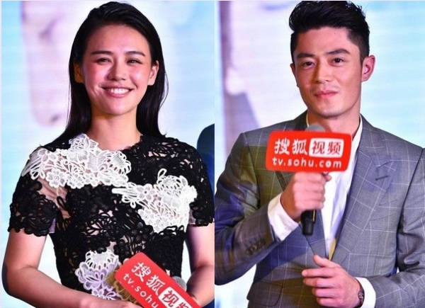 "The lead roles of ""Love Me, If You Dare"" are facing the audience in the press release held on June 11."