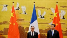 French President Francois Hollande in China