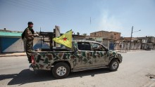 YPG fighters control downtown of Tal Abyad, Syria