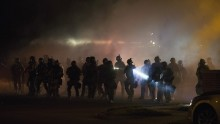 Ferguson Shooting: Tear gas used to disperse protesters