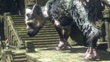Trico, the giant winged creature in the Last Guardian game