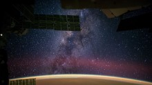 NASA astronaut Reid Wiseman captured the Milky Way from the International Space Station.