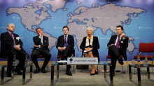 Chancellor George Osborne & IMF Managing Director Christine Lagarde Speak At Chatham House