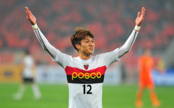 Yanbian Funde forward Kim Seung-dae during his time with the Pohang Steelers last season
