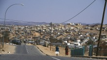 Street view of the Katutura Black Township, located in Windhoek, Namibia, August 1995