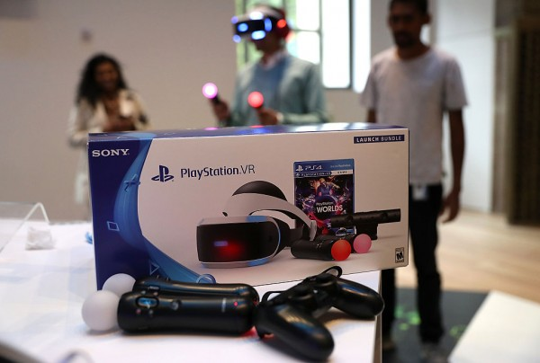 A new PlayStation VR is displayed at Sony Square NYC on October 13, 2016 in New York City.
