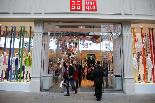 A general view as UNIQLO 311 Oxford Street Store opens to the public on March 18, 2016 in London, England.