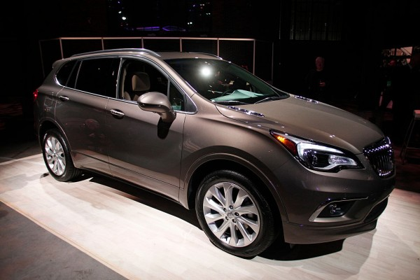 The 2016 Buick Envision crossover SUV is shown at a Buick reveal on the eve of the 2016 North American International Auto Show January 10th, 2016 in Detroit, Michigan.